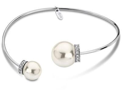 Pevný ocelový náramek s perličkami LS1824-2/1