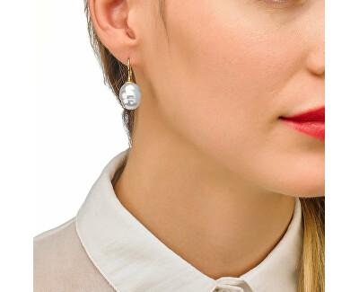 Pozlátené strieborné náušnice s pravou barokovou perlou 08481.01.1.000.703.1