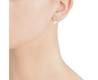 Stříbrné náušnice s perlou a kamínky 14225.01.2.000.010.1