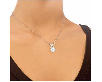 Strieborný náhrdelník s perlou 15298.01.2.000.010.1