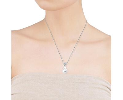 Strieborný náhrdelník s perlou a kamienkom 12268.01.2.000.010.1 (retiazka, prívesok)