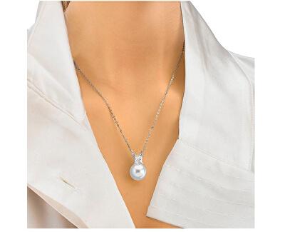 Strieborný náhrdelník s perlou a kamienkom 15308.01.2.000.010.1