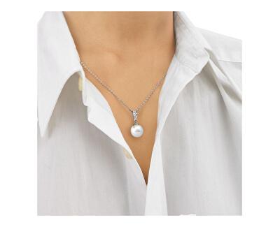 Strieborný náhrdelník s perlou a kamienkami 15316.01.2.000.010.1