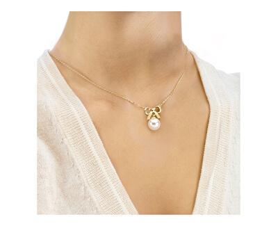 Strieborný náhrdelník s perlou a mašličkou 15300.01.1.000.010.1