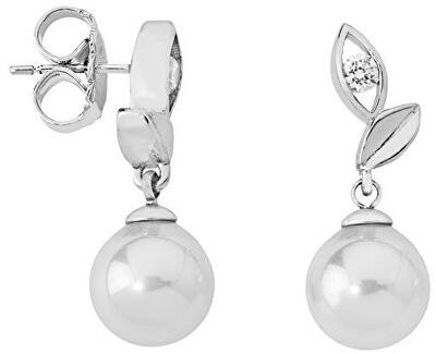 Strieborné náušnice s pravou perlou 12850.01.2.000.010.1