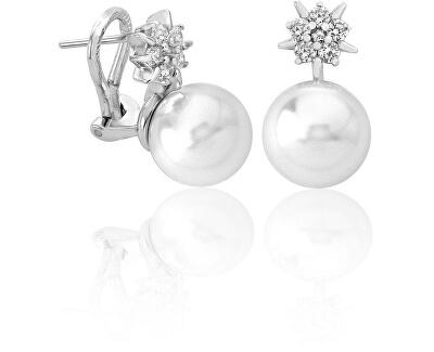 Strieborné náušnice s perlou a hviezdičkou 15315.01.2.000.010.1