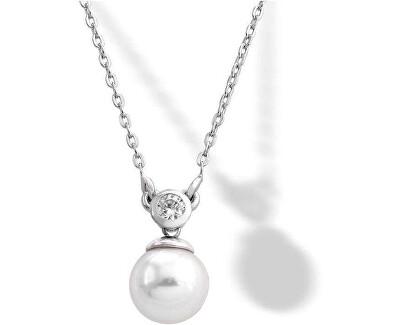 Strieborný náhrdelník s perlou a kamienkom 15304.01.2.000.010.1