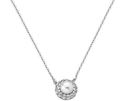 Strieborný náhrdelník s perlou a kamienkami 15254.01.2.000.010.1