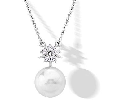 Strieborný náhrdelník s perlou a kamienkami 15314.01.2.000.010.1