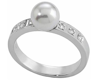 Stříbrný prsten s perlou a kamínky 12563.01.2.913.010.1
