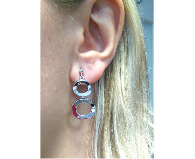 Elegante bicolor Ohrringe aus Silber M25012