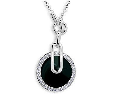 Originální stříbrný náhrdelník se zirkony JA51474CZ