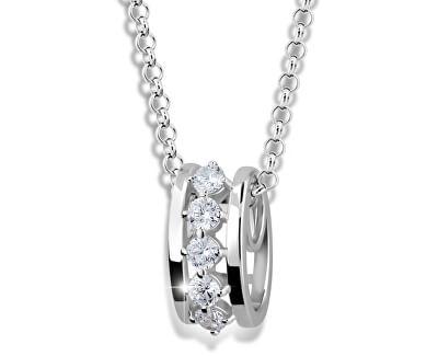 Modische Silber Halskette M41090