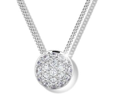 Slušivý náhrdelník ze stříbra M41091 (řetízek, přívěsek)