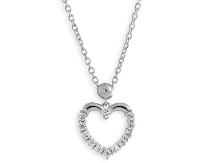 Halskette mit Zirkonia Herz M41054
