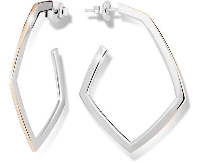 Bicolor Silber Ohrringe M26011