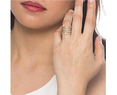 Inel din otel placat cu aur, și cristale MKJ4724791