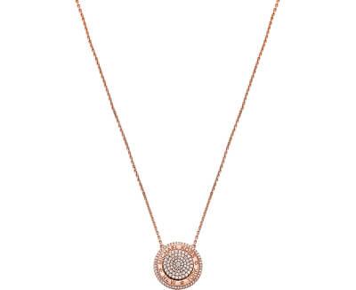 Luxusní bronzový náhrdelník se zirkony MKC1389AN791