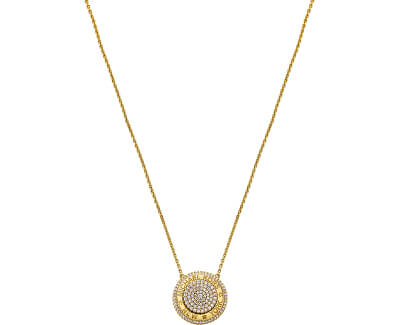 Luxusní pozlacený náhrdelník se zirkony MKC1389AN710