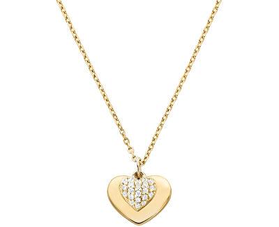 Colier din argint placat cu aur roz cu inimă MKC1120AN710