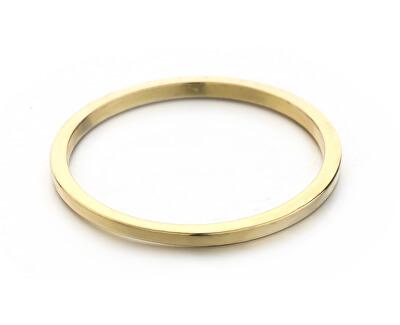 Minimalistický pozlacený prsten R0001984
