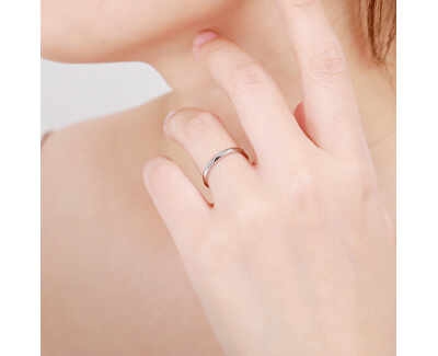 Minimalistický stříbrný prsten R00019