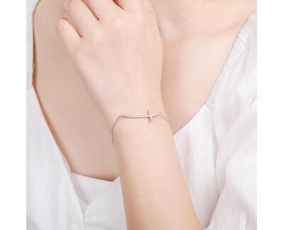 Módní stříbrný náramek křízek B0000439