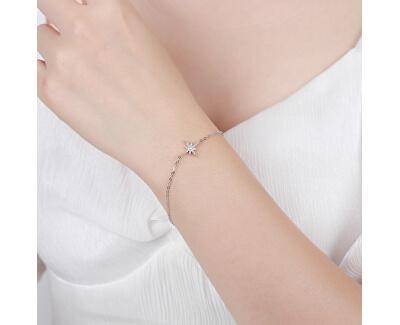 Módní stříbrný náramek s hvězdou B0000443