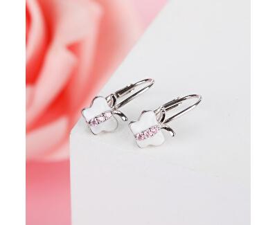 Něžné stříbrné náušnice Motýlci E0000670