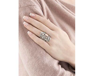 Ocelový bicolor prsten Cuoremio SADA09