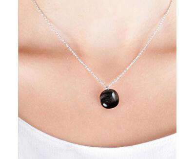 Stylový náhrdelník zdobený kočičím okem Gemma SAKK04 (řetízek, přívěsek)