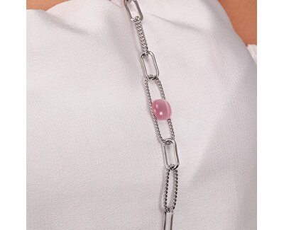 Krásný dlouhý ocelový náhrdelník 1930 SATP10