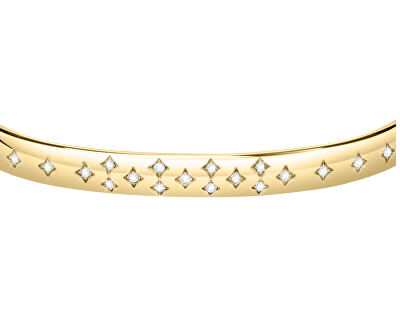 Krásný pozlacený náramek s krystaly Insieme SAKM81