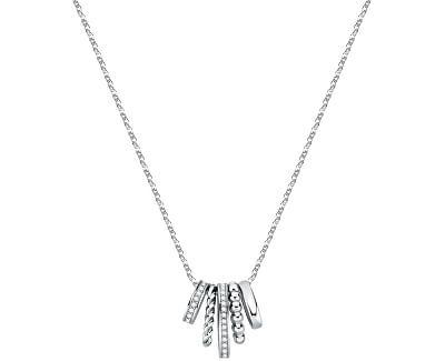 Moderní ocelový náhrdelník Insieme SAKM75 (řetízek, přívěsek)