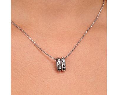 Moderní ocelový náhrdelník Insieme SAKM89 (řetízek, přívěsek)