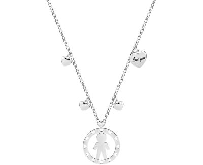 Oceľový náhrdelník Boy talizmanov SAQE02