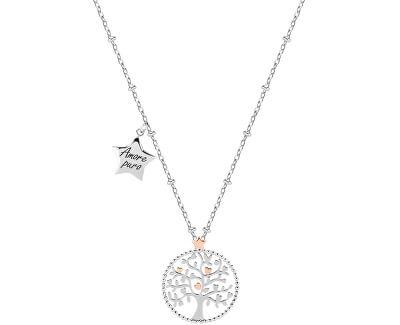 Oceľový náhrdelník Green Tree of Life Talismani SAQE11