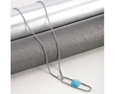 Ocelový náhrdelník s kočičím okem 1930 SATP16