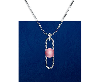 Ocelový náhrdelník s kočičím okem 1930 SATP23