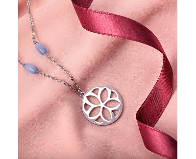 Ocelový náhrdelník s kočičím okem Fiore SATE03