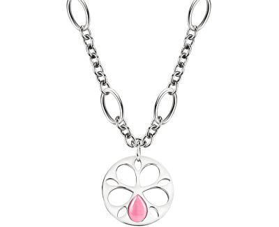 Ocelový náhrdelník s kočičím okem Fiore SATE07