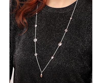 Oceľový náhrdelník s kryštálmi Gipsy SAQG01