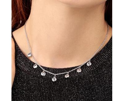 Oceľový náhrdelník s kryštálmi Gipsy SAQG04