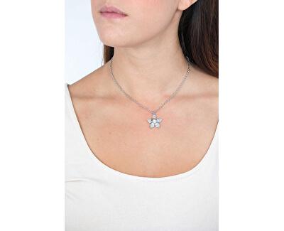 Edelstahl Halskette mit Blume SAJR03