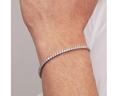 Moderní stříbrný náramek s krystaly Alfa SATN01
