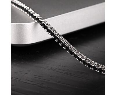 Moderní stříbrný náramek s krystaly Alfa SATN02