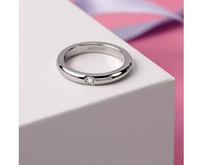 Ocelový prsten s krystalem Love Rings SNA46