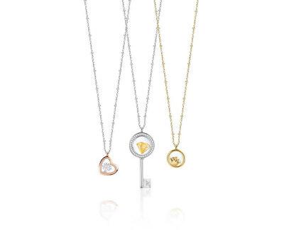 Pozlátený náhrdelník s elementom Scrigno D`Amore SAMB35 (retiazka, prívesok)