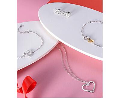 Romantický stříbrný náhrdelník Cuori SAIV21 (řetízek, přívěsek)