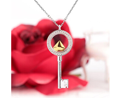 Strieborný náhrdelník s elementom Scrigno D`Amore SAMB30 (retiazka, prívesok)